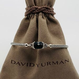 David Yurman Petite Wheaton Black Onyx Diamonds